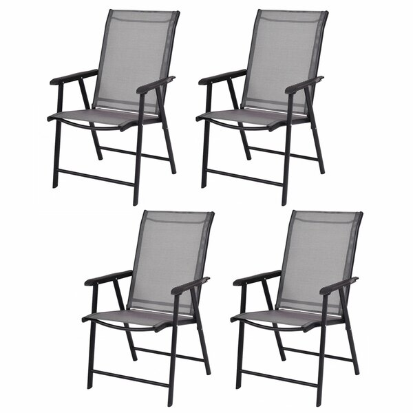 Camping Deck Garden Folding Chair (Set of 4) by Costway