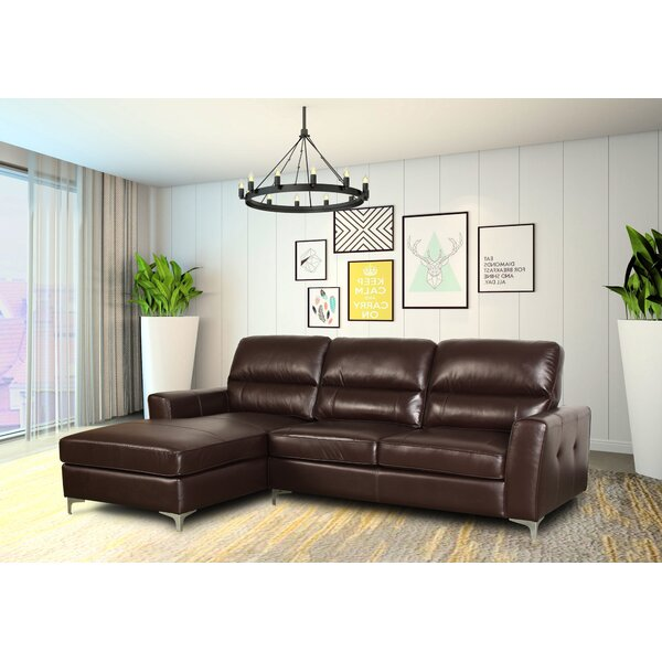 Aldreth Leather Sectional by Ivy Bronx