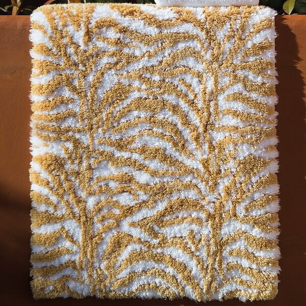 Clairlea Palm Rectangle Non-Slip Animal Print Bath Rug