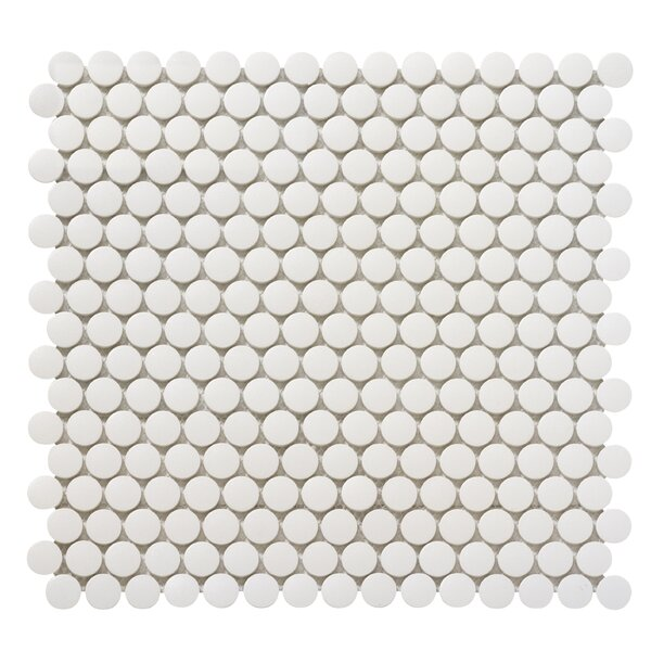 Zone 0.8 x 0.8 Porcelain Mosaic Tile in White by Emser Tile