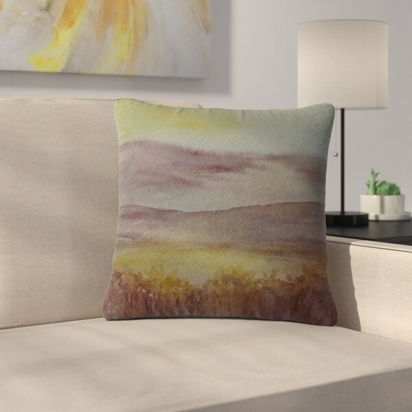 Cyndi Steen Sunset Nature Outdoor Throw Pillow by East Urban Home