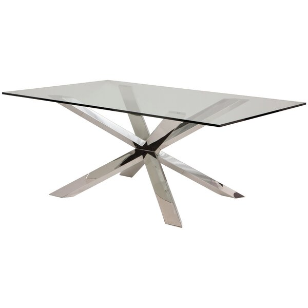Boler Glass Top Dining Table by Orren Ellis Orren Ellis