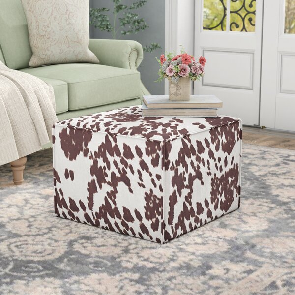 Arvilla Upholstered Cube Ottoman by Laurel Foundry Modern Farmhouse