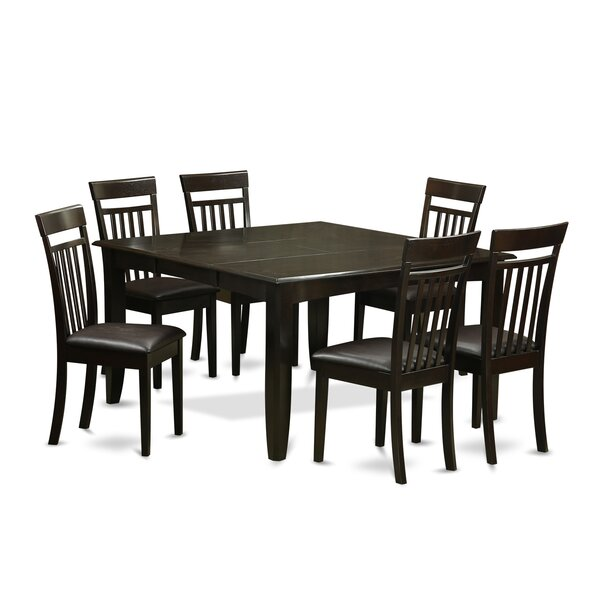 Pilning 7 Piece Dining Set with Rectangular Table Top by August Grove