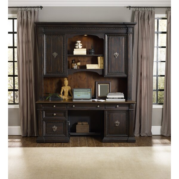 Treviso Executive Desk with Hutch by Hooker Furniture