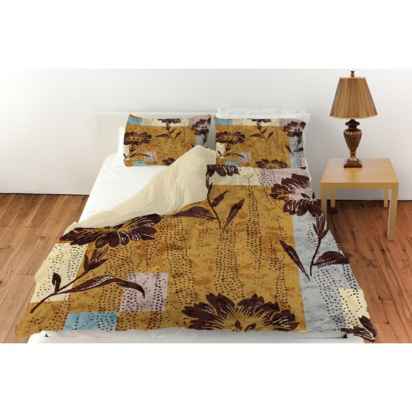 Floral Study in Blocks Duvet Cover Collection