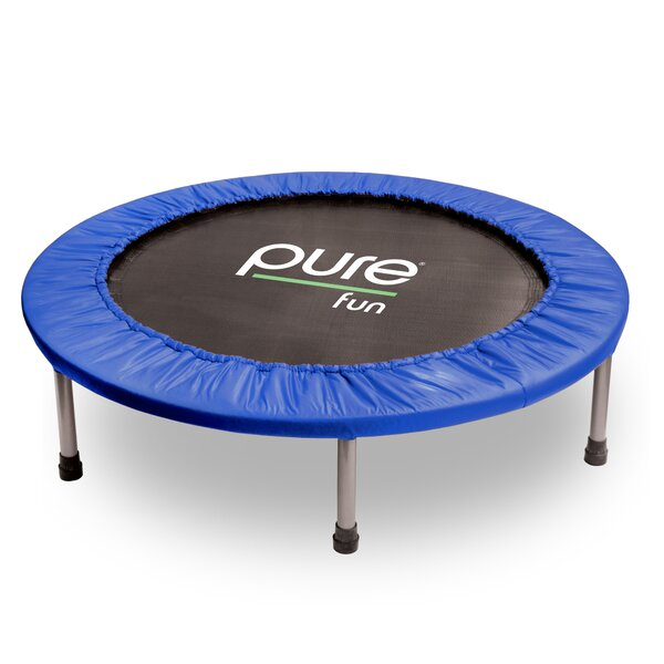 Round Exercise Trampoline with Safety Enclosure by Pure Fun