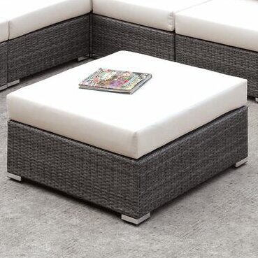 Peters Outdoor Ottoman with Cushion by Brayden Studio