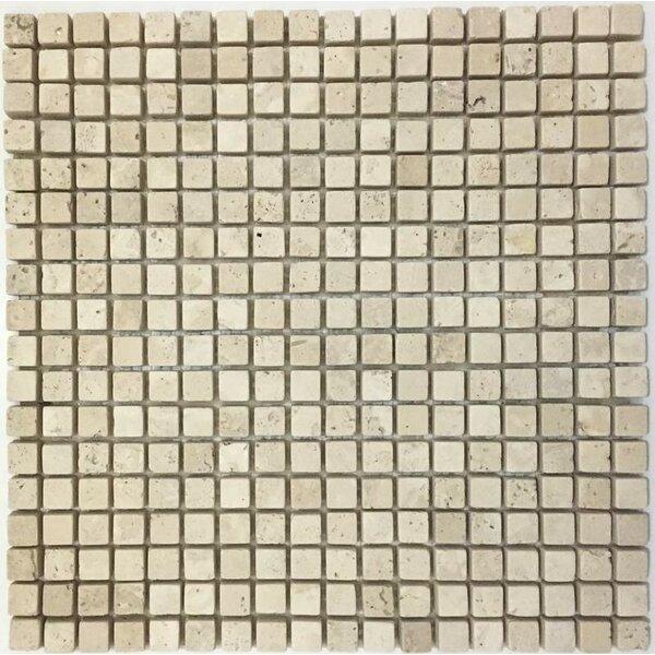 0.63 x 0.63 Mosaic Tile in Ivory by Ephesus Stones