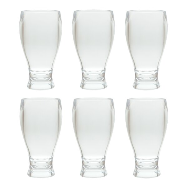 Thames Wheat Beer Style Thick Wall Tumbler 14 Oz. Plastic/Acrylic Every Day Glasses (Set of 6) by Red Barrel Studio