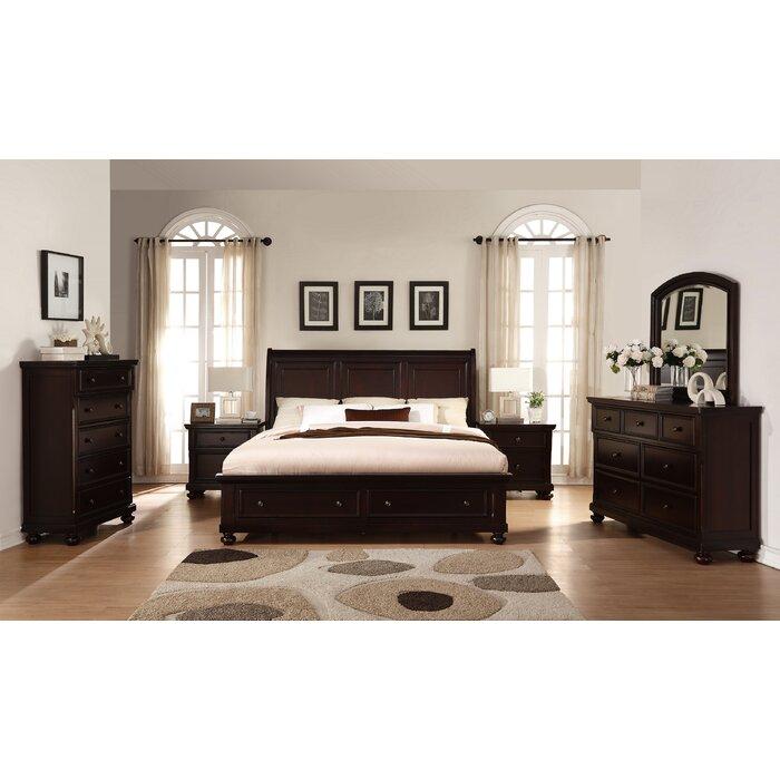 Jaimes King Platform Solid Wood 6 Piece Bedroom Set