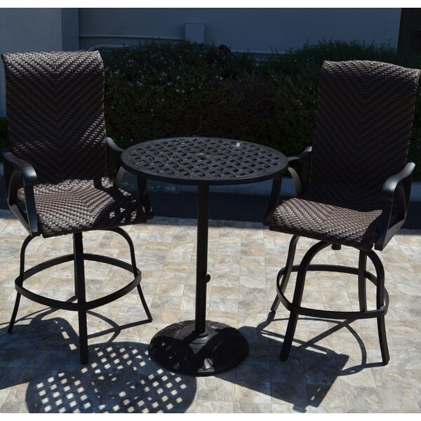 Venice 3 Piece Bar Set by K&B Patio