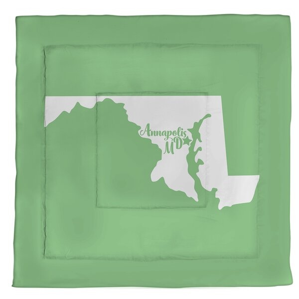 Annapolis Maryland Single Reversible Comforter