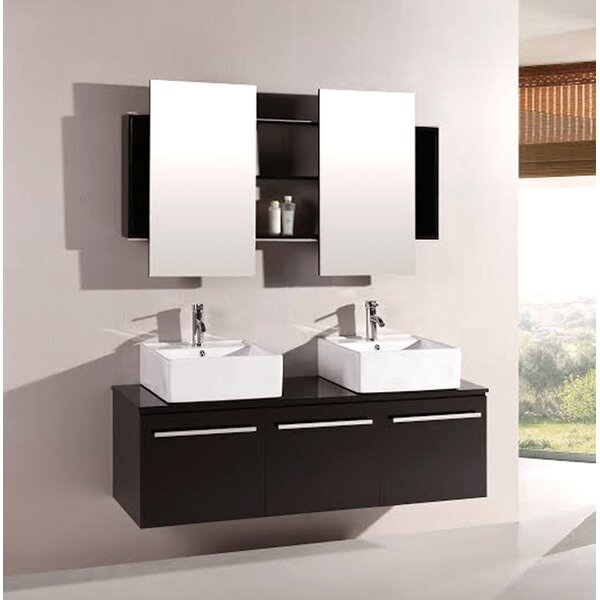 Agni 59.25 Double Vanity Set with Mirror by Kokols