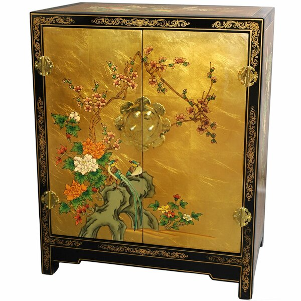 Camille Gold Leaf Lacquer Accent Cabinet by World Menagerie World Menagerie