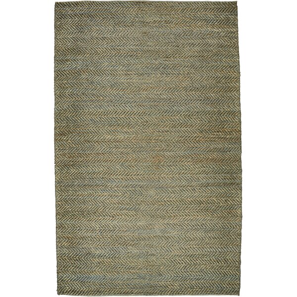 Riaria Hand-Woven Teal Area Rug by Charlton Home