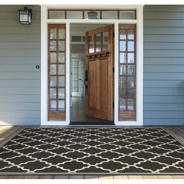 Barrow Black/Sand Area Rug by Sol 72 Outdoor
