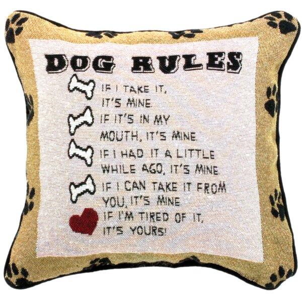 Dog Laws Throw Pillow by Manual Woodworkers & Weavers