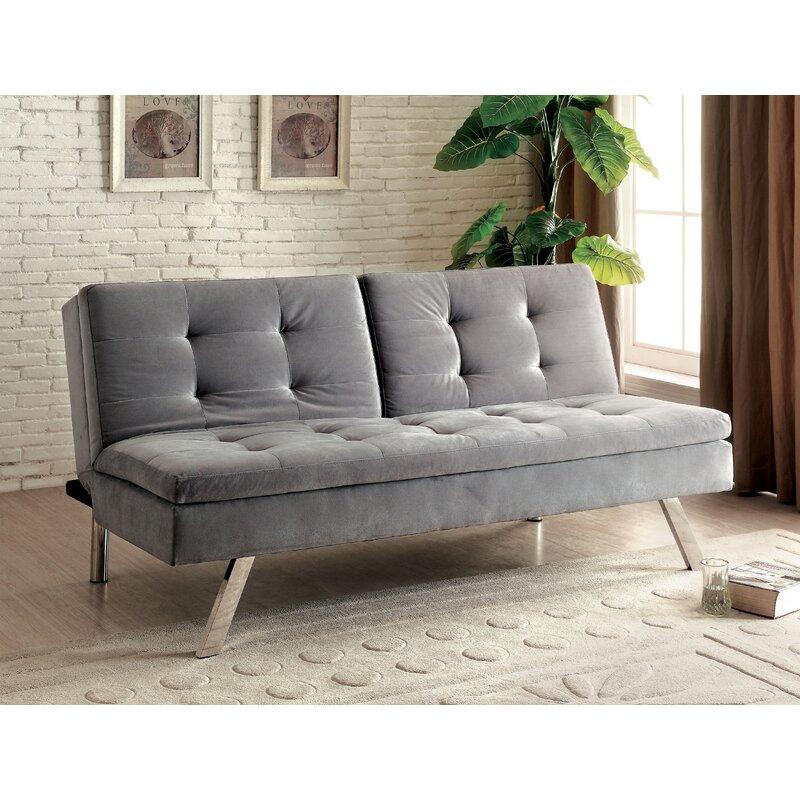 Hokku Designs Admundo Full Tufted Back Convertible Sofa ...