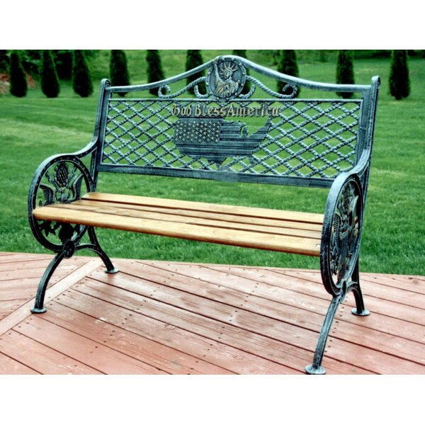 God Bless America Garden Bench by Oakland Living
