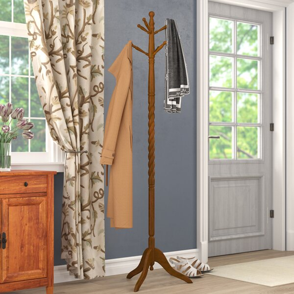 Traditional Wood Coat Stand by Andover Mills