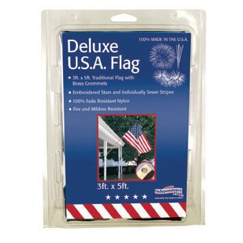 Nylon Sewn Embroidered US Traditional Flag by Flag Zone