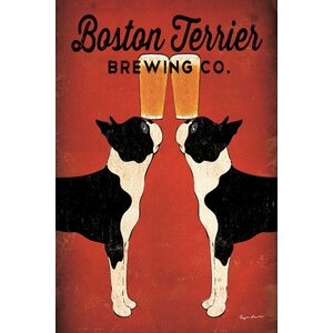 Boston Terrier Brewing Co. Vintage Advertisement on Wrapped Canvas by Andover Mills