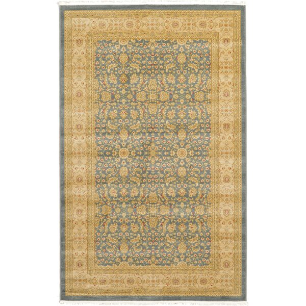 Willow Blue/Beige Area Rug by World Menagerie