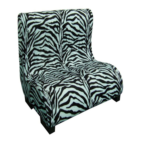 Upholstered Plush Zebra Tufted Dog Bed by ORE Furniture
