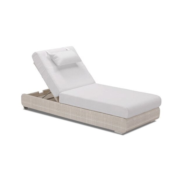 Sumba Adjustable Sun Lounge with Cushion by 100 Essentials