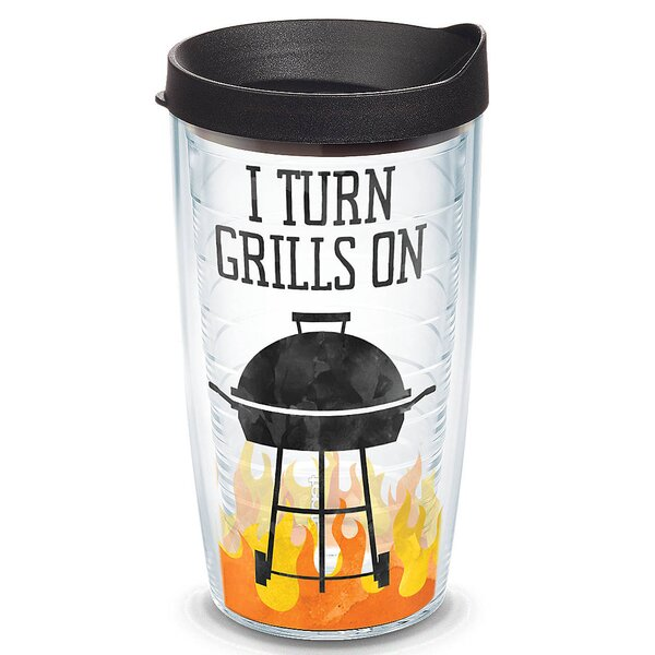 Eat Drink Be Merry I Turn Grills on Plastic Travel Tumbler by Tervis Tumbler