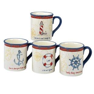 Dubreuil Ceramic Coffee Mug Set Of 4