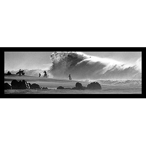 'Surfers Big Wave' Framed Photographic Print by Buy Art For Less