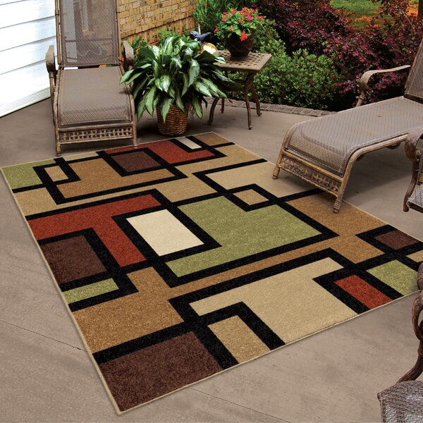 Thorne Brown Indoor/Outdoor Area Rug by Threadbind