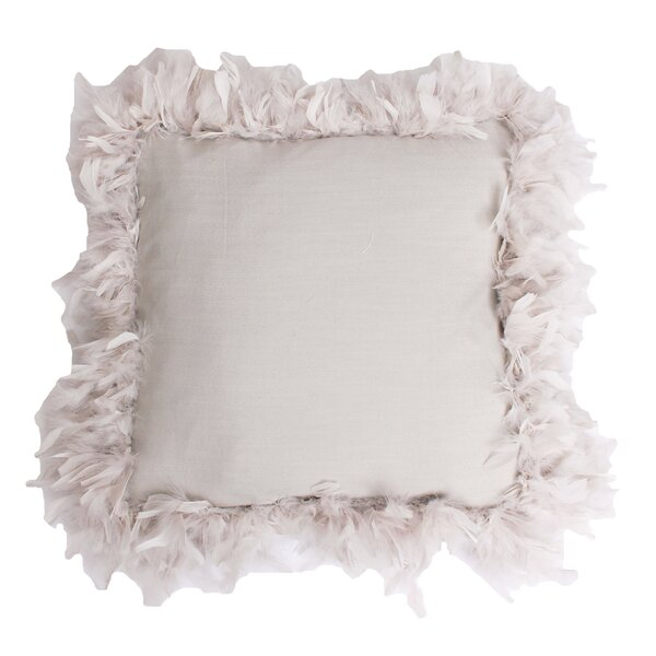 Mary Feather Trim Throw Pillow by Thro by Marlo Lorenz