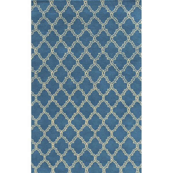 Marseille Hand-Tufted Blue Area Rug by Meridian Rugmakers