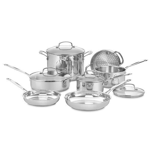 Chef S Classic 11 Piece Cookware Set By Cuisinart.