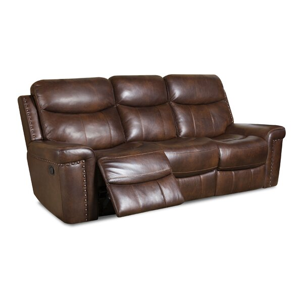 Heineman Leather Reclining Sofa by Alcott Hill