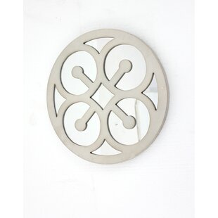 Mirrored Round Wooden Wall Decor (Set Of 2)