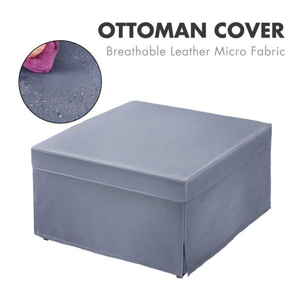 Box Cushion Ottoman Slipcover By Red Barrel Studio