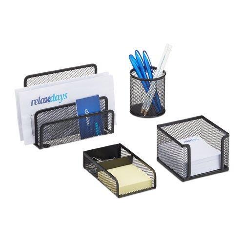 4-tlg. Schreibtischorganizer-Set ClearAmbient Farbe: Schwarz | Büro > Bürotische > Bürotische-Zubehör | ClearAmbient