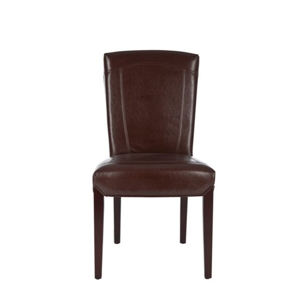 Ken Bi-Cast Leather Side Chair (Set of 2) by Safavieh