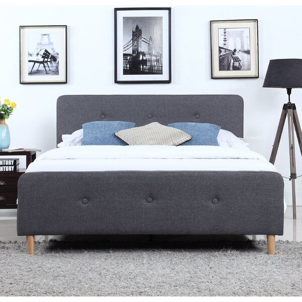 Crumpler Upholstered Platform Bed by George Oliver
