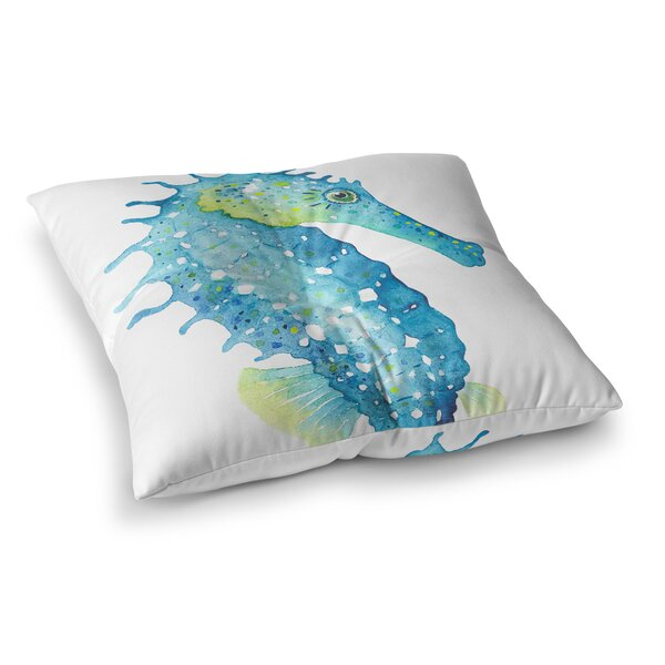 Fitzpatrick Seahorse Outdoor Floor Pillow by Rosecliff Heights