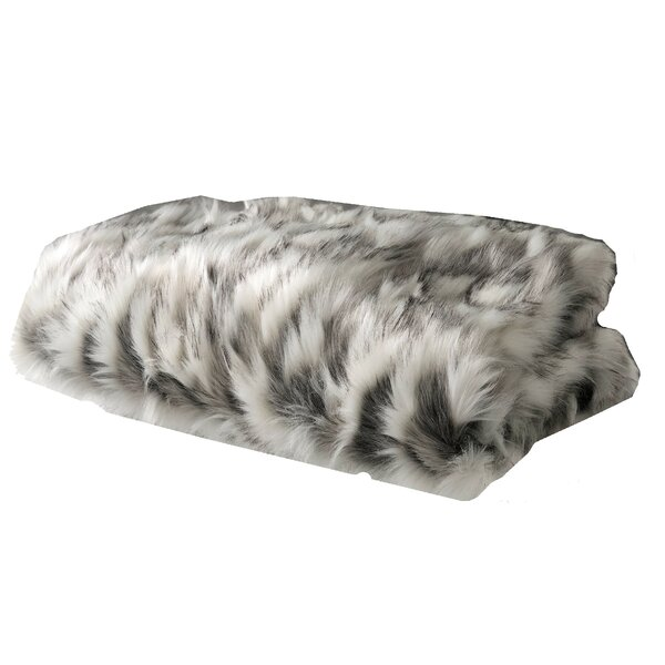Quintero Tibet Handmade Luxury Faux Fur Throw by Everly Quinn