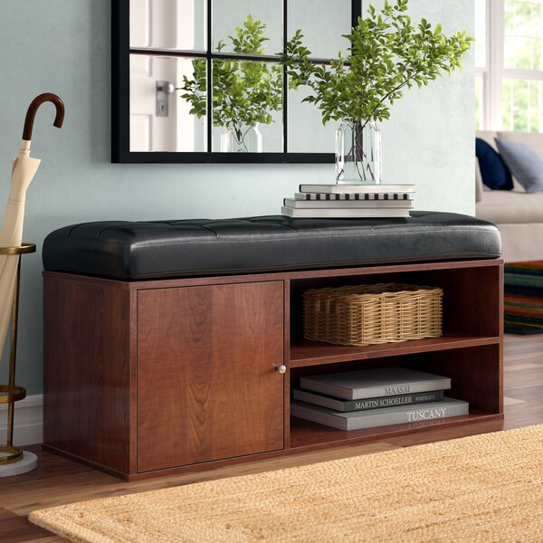Westchester Faux Leather Storage Bench by Charlton Home