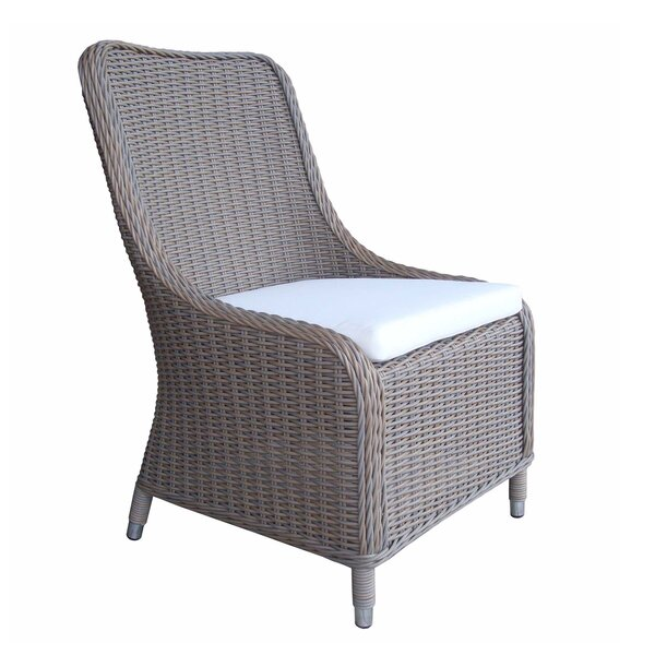 Fred Patio Dining Chair with Cushion by One Allium Way