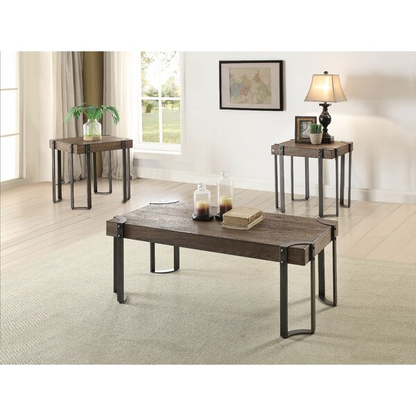 Nolia 3 Piece Coffee Table Set by 17 Stories