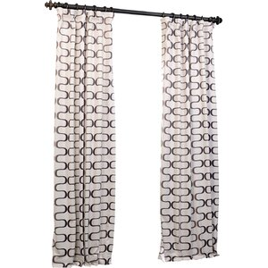 Rohan Geometric Blackout Thermal Rod Pocket Single Curtain Panel