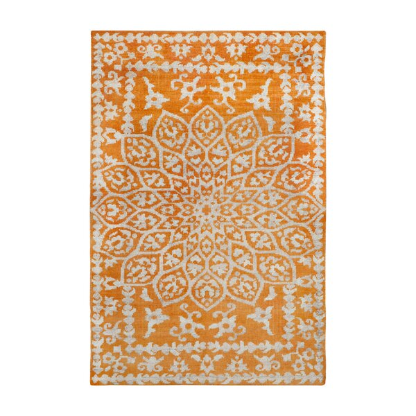 Marmont Orange Area Rug by Bungalow Rose